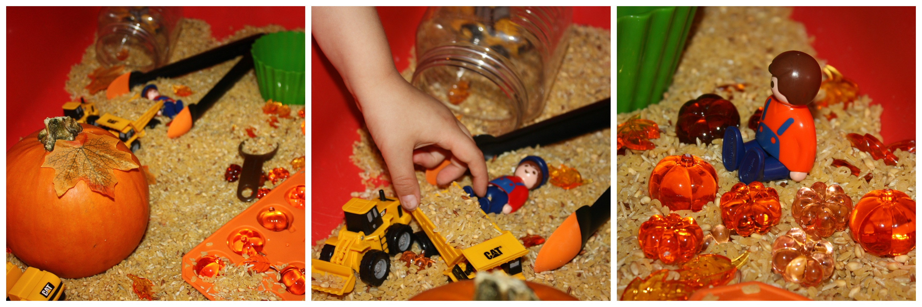 pumpkin-harvest-sensory-bin-with-people-and-vehicles