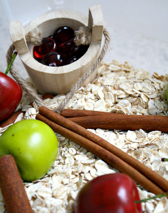 apple-cinnamon-sensory-bin