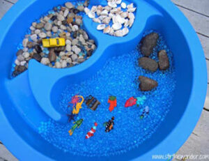 Ocean Sensory Table Sensory Bin